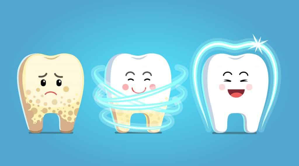 تنظيف الاسنان كرتون